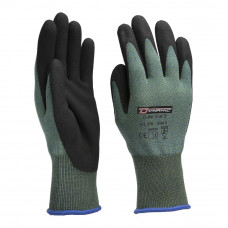 Handschoen D-Air Cut 3 Nylon-Glass-Lycra/AirFoam Palm gecoat Groen/Zwart