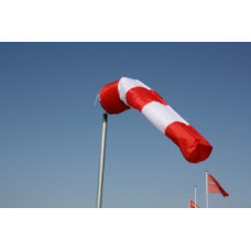 Windsock rood/wit.